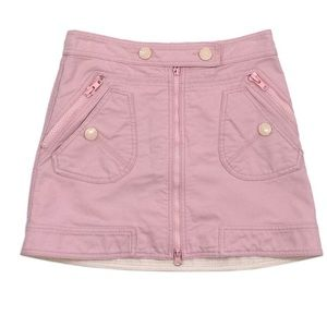 Mark Jacobs pink corduroy mini skirt size 2